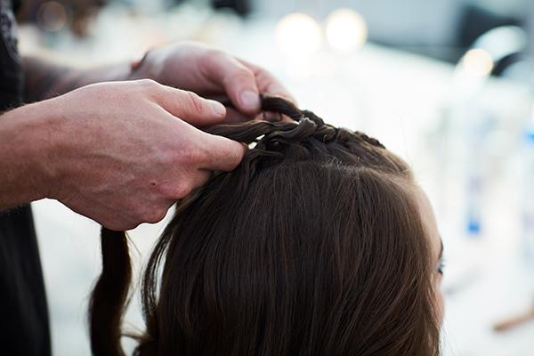 Cheveux en tresse