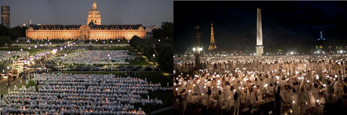 Pique-nique géant avec le Dîner en Blanc qui fête ses 30 ans à Paris