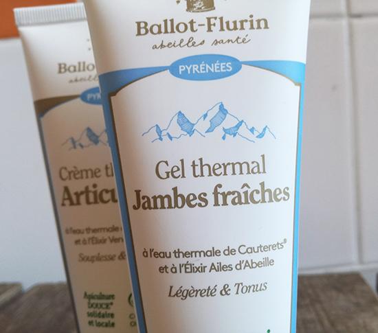 Ballot-Flurin lance la ligne Apithermale Pyrénées (Crème Thermale Articulaire et Gel Thermal Jambes Fraîches) alliant apithérapie et thermalisme.