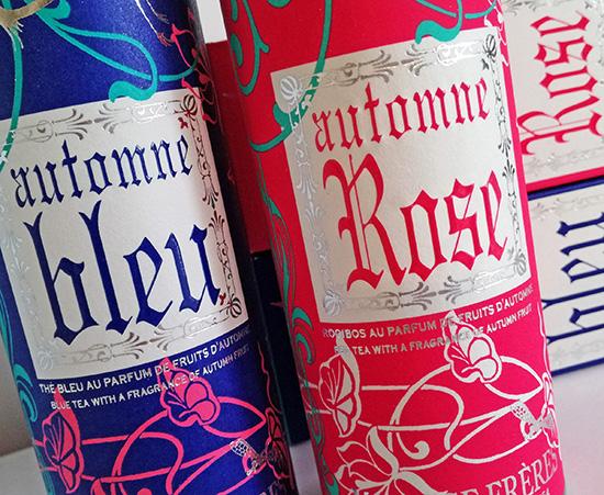 Automne Bleu, Automne Blanc et Automne Rose. Les saveurs et les couleurs de l'été indien ont inspiré la collection de thés d'automne Mariage Frères.