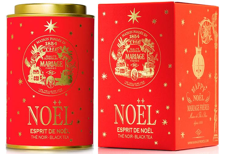 Esprit de Noël : Thé noir festif étoilé d'Or et d'Argent