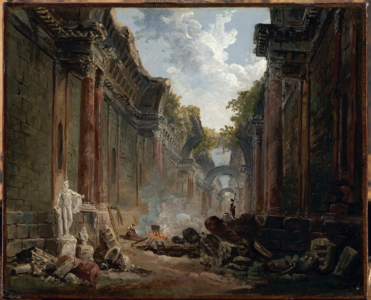 Hubert Robert, Vue imaginaire de la grande galerie