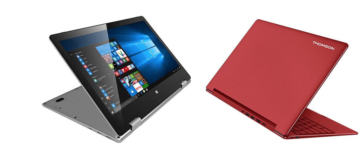 Deux ordinateurs portables poids plume