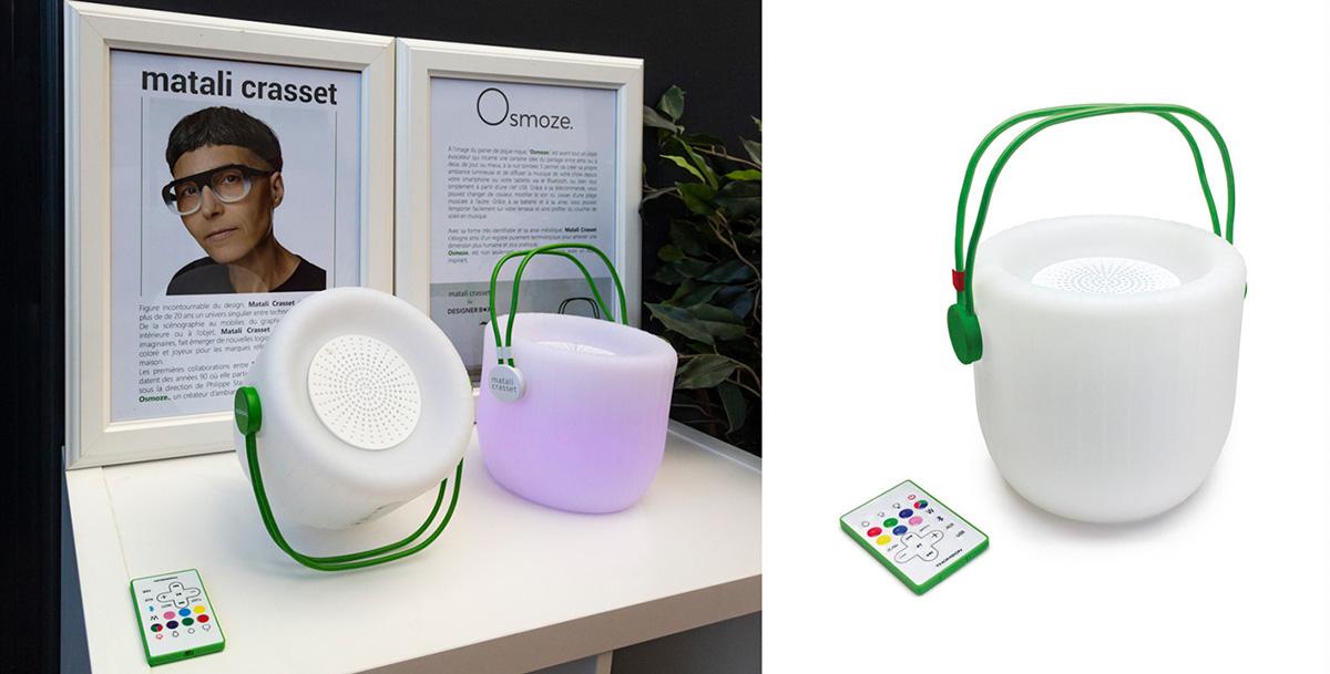 Ozmoze, une enceinte créatrice d'ambiance lumineuse et sonore