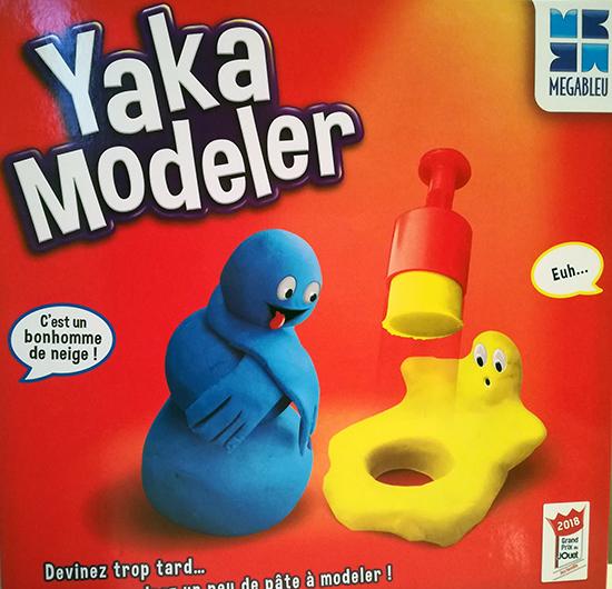 Elu Grand Prix du Jouet 2018 dans la catégorie Jeu famille, YakaModeler va mettre à l'épreuve le talent de sculpteur de chacun grâce à de la pâte à modeler.