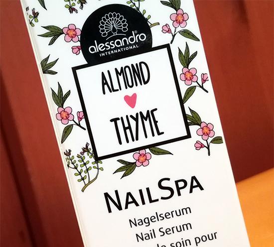 Chez alessandro, la saison printanière prend des allures provençales avec Almond Thyme.