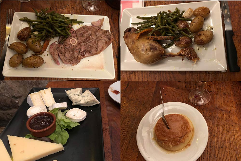 Nos Ancêtres Les Gaulois : plats, formages et dessert