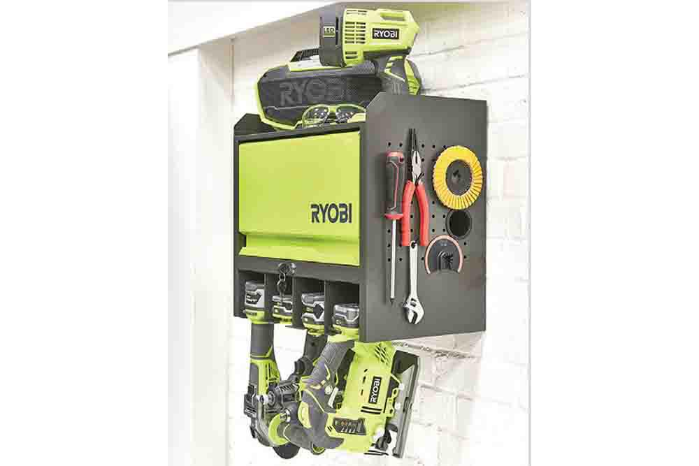 L'étagère murale multifonctionnelle ONE+™ RYOBIRHWS-01 : pour stocker ses outils en toute sécurité