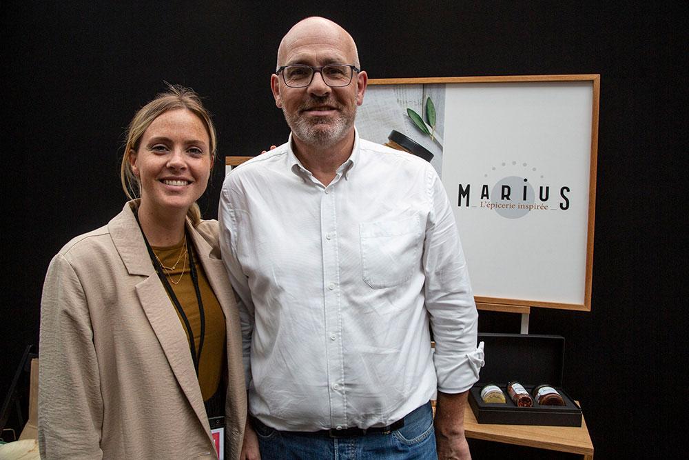 Patrick Baillet et sa fille Margaux étaient sur leur stand «Marius, l'épicerie fine inspirée».
