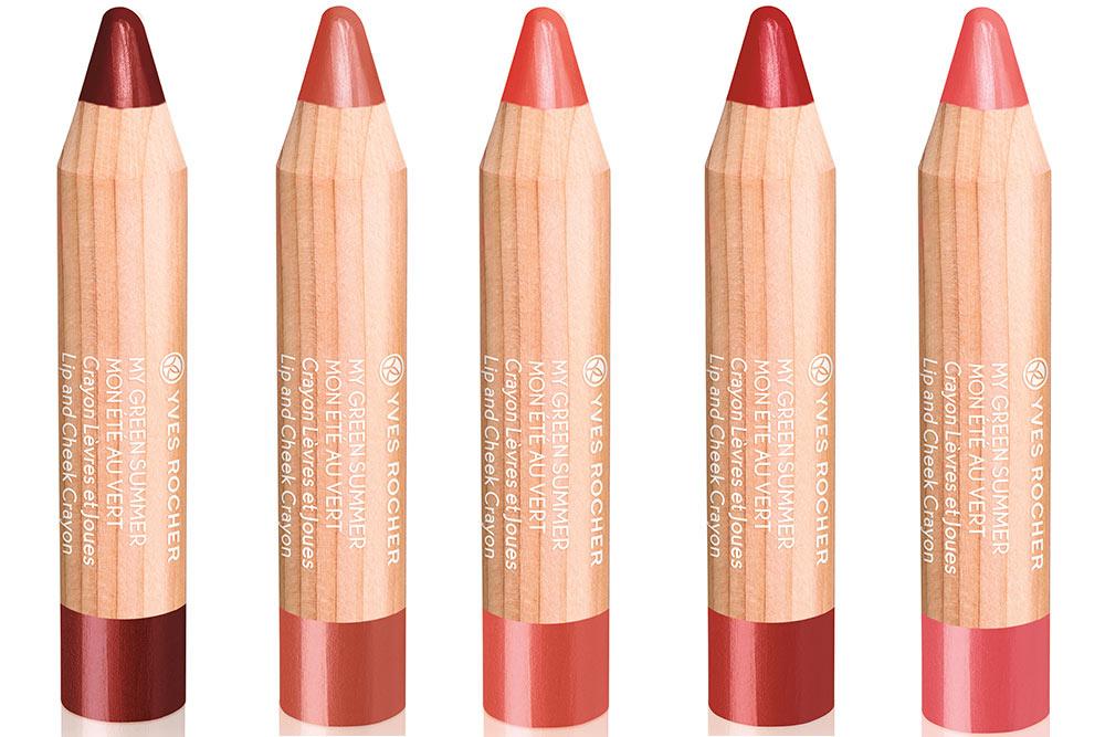 Crayon deux en un lèvres et joues
