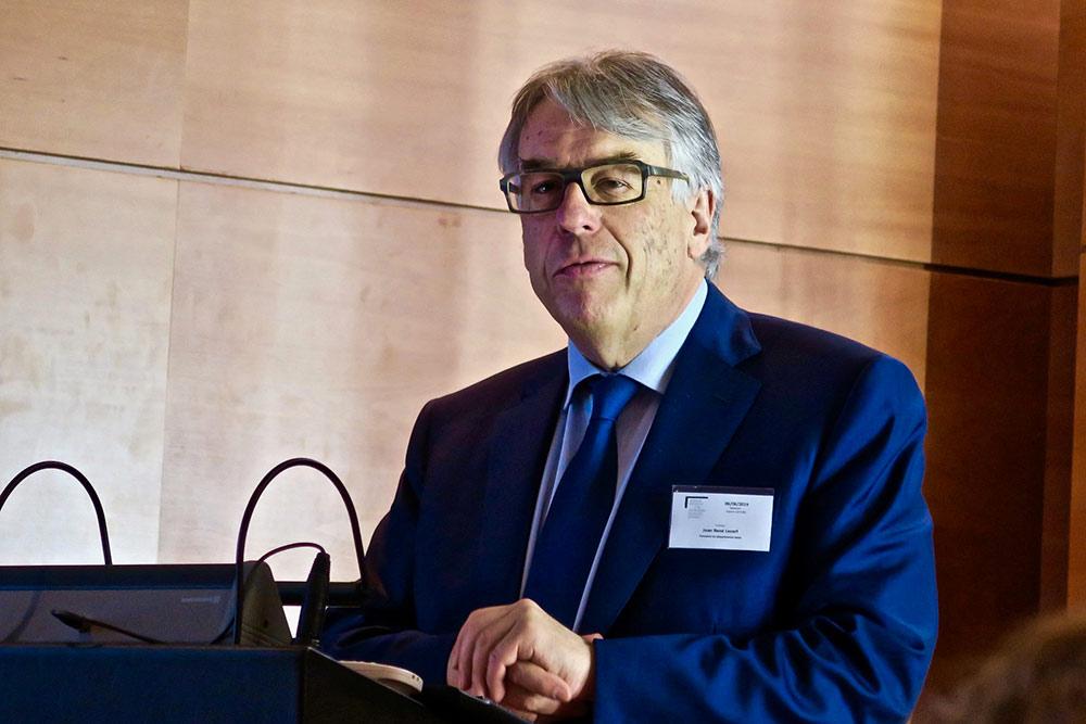 Jean-René Lecerf, Président du Département du Nord lors de la présentation de La Pourvoyeuse.