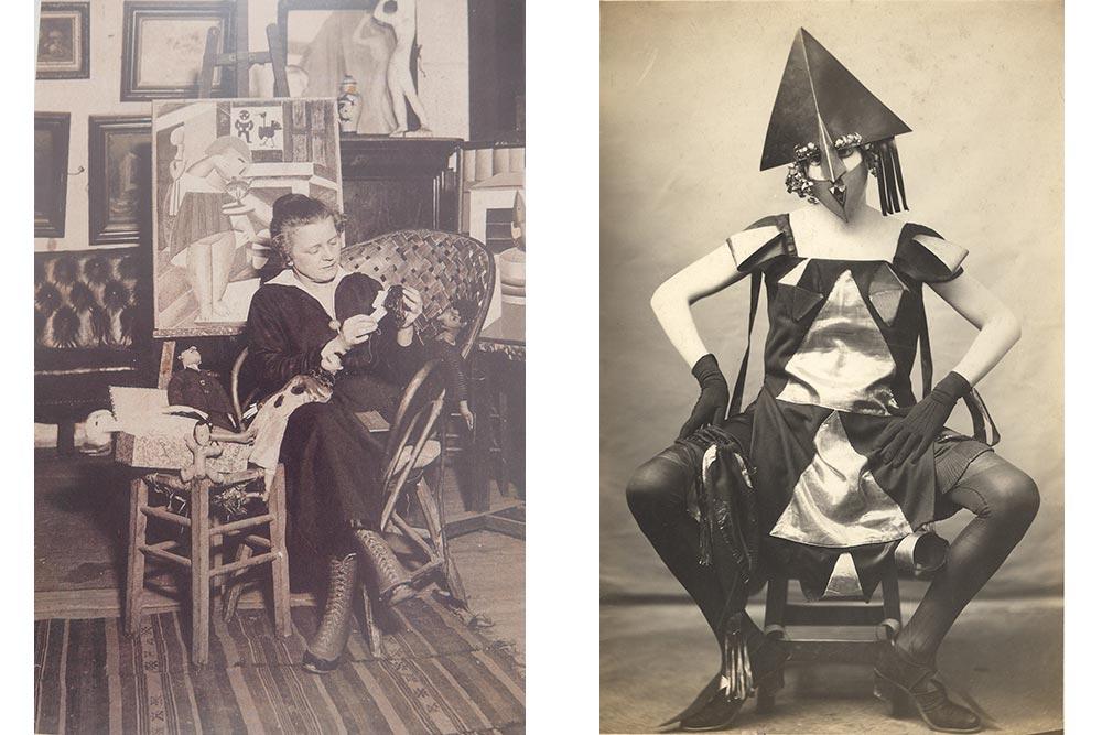 Marie Vassilieff, Costume Arlequine pour le Bal banal, 1924 Photographie Pierre Delbo, droits réservés, collection Claude Bernès