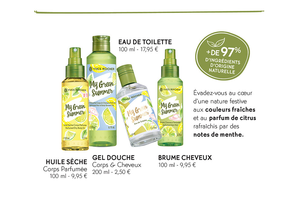 La collection Vegan My Green Summer d'Yves Rocher