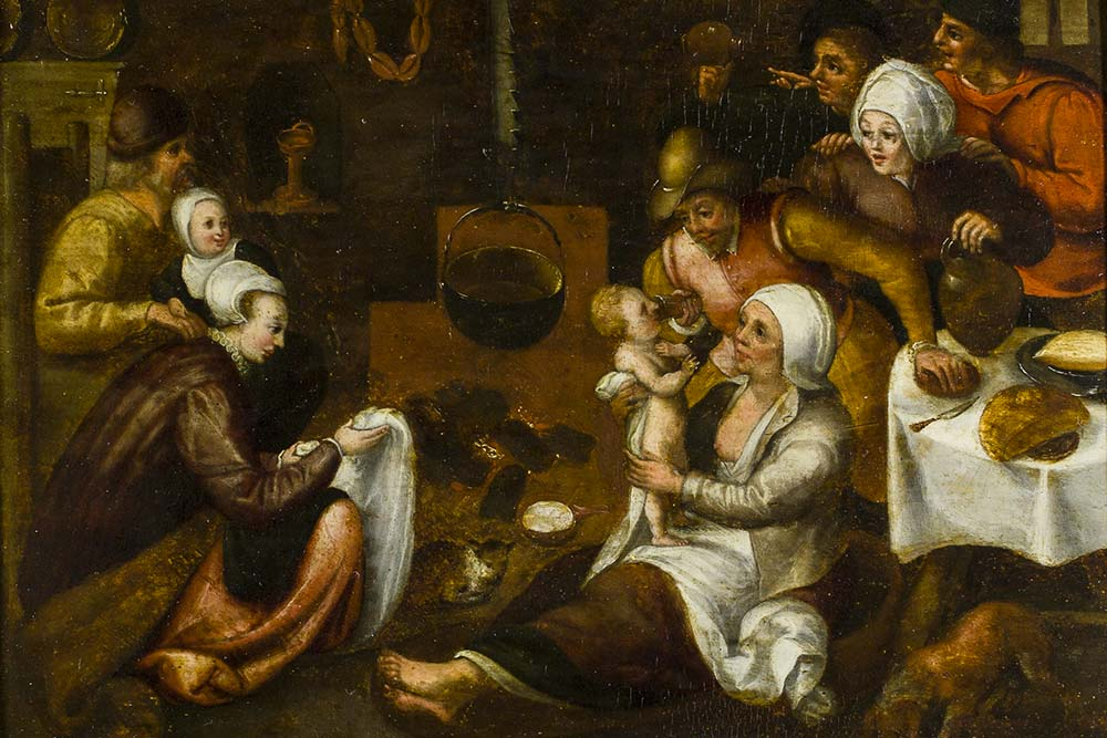 Marten I van Cleve (attribué à), La Visite à la nourrice