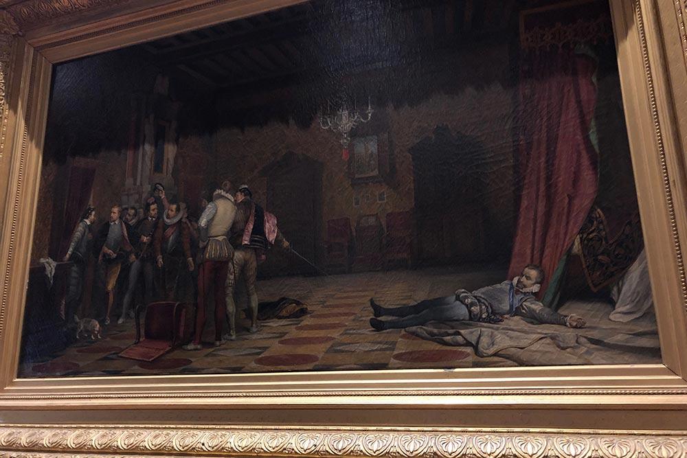 Tableau représentant l'assassinat du Duc de Guise