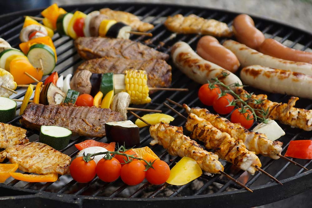 Brochettes au barbecue