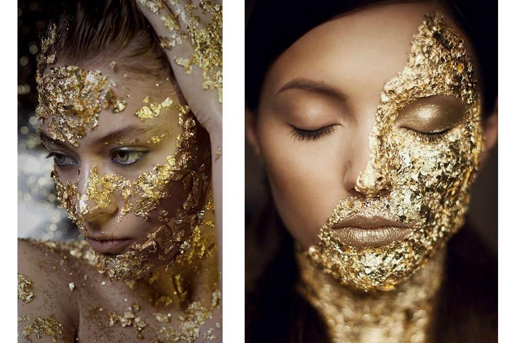 Ruth Niddam masques à l'or pur