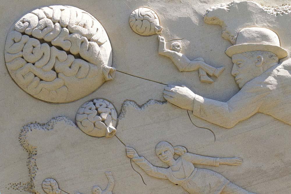 Sculpture du cerveau