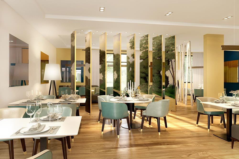 Les Jardins d'Arcadie : salle de restaurant