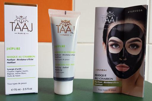 Un Masque au charbon détox et éclat signé TAAJ