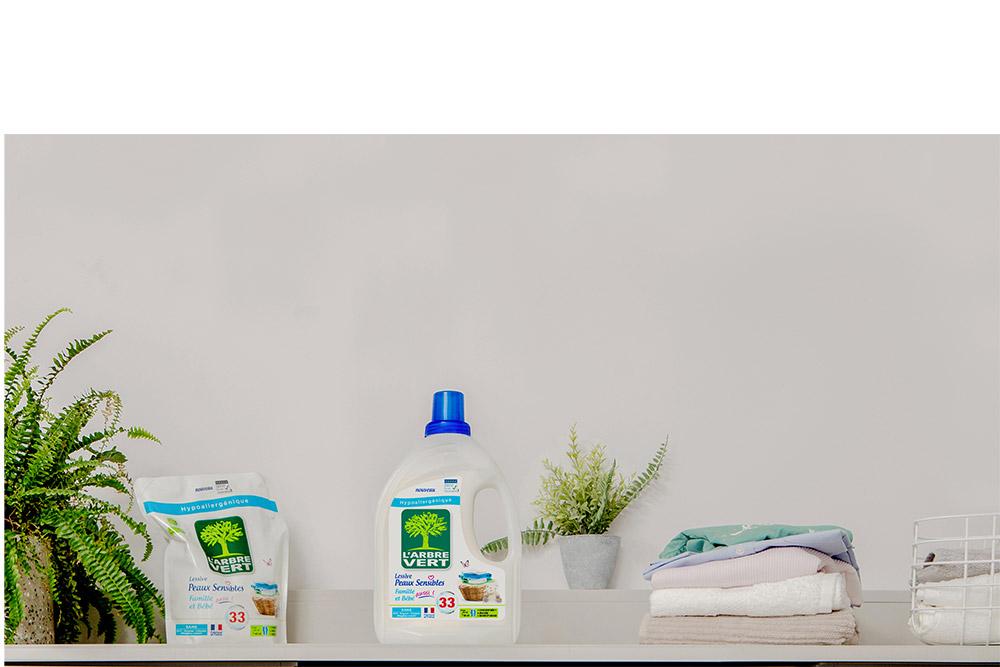 Arbre Vert : produit lessive