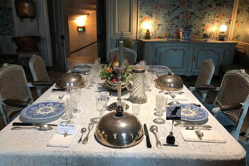 Château de Talcy : table de la salle à manger