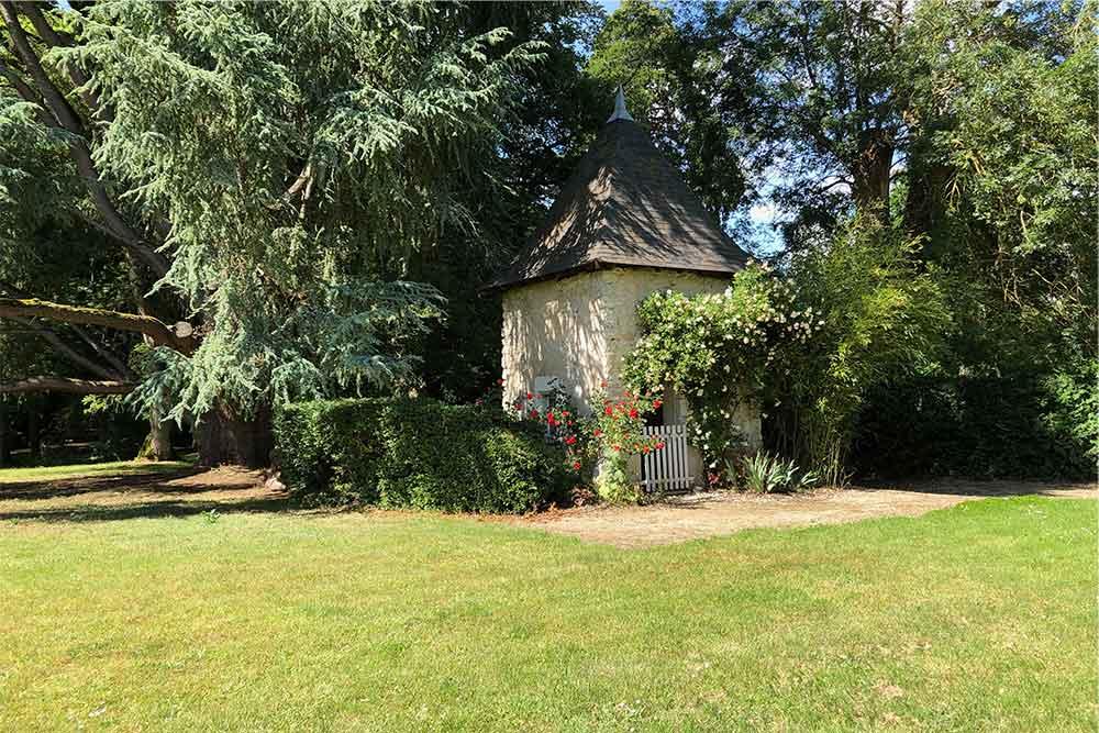 Château de Troussay : un coin du parc