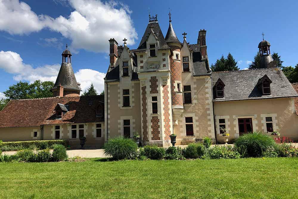 Château de Troussay : façade arrière