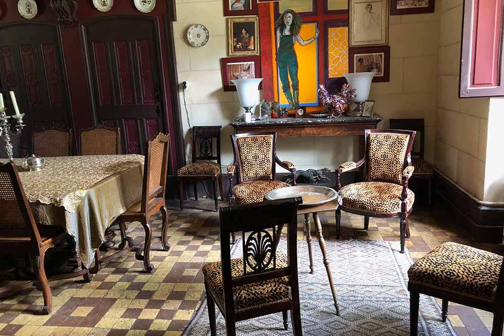 Château de Troussay : entrée de la salle à manger