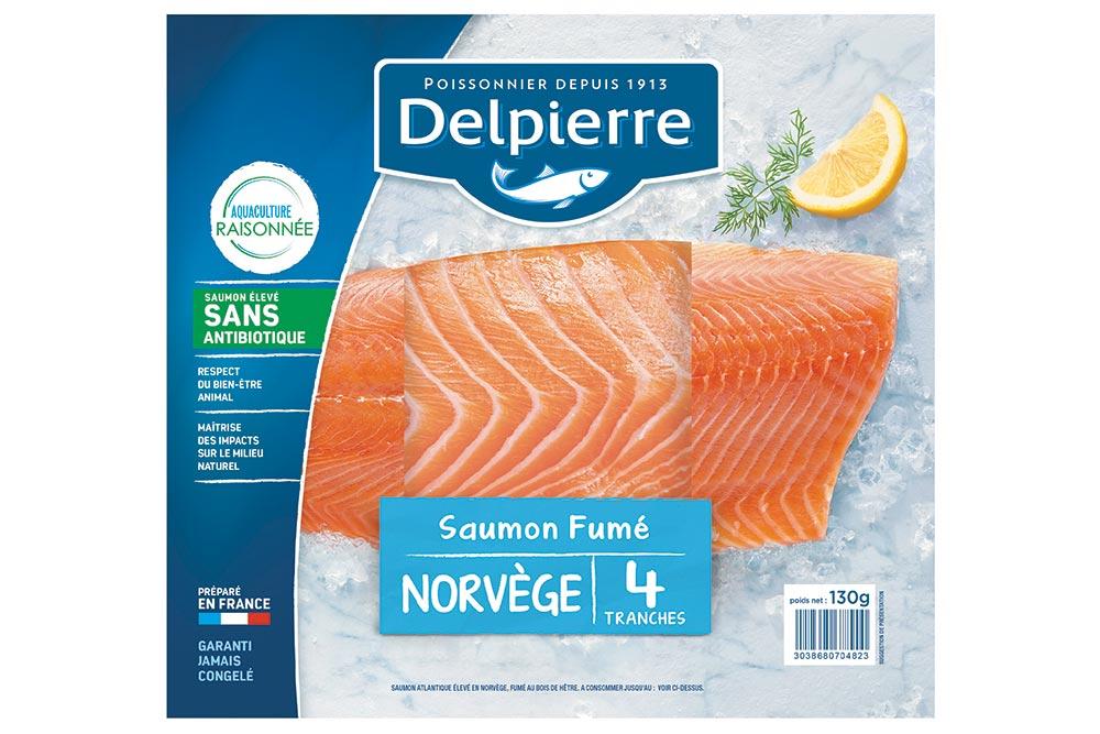 Delpierre : Saumon Fumé de Norvège sans antibiotique