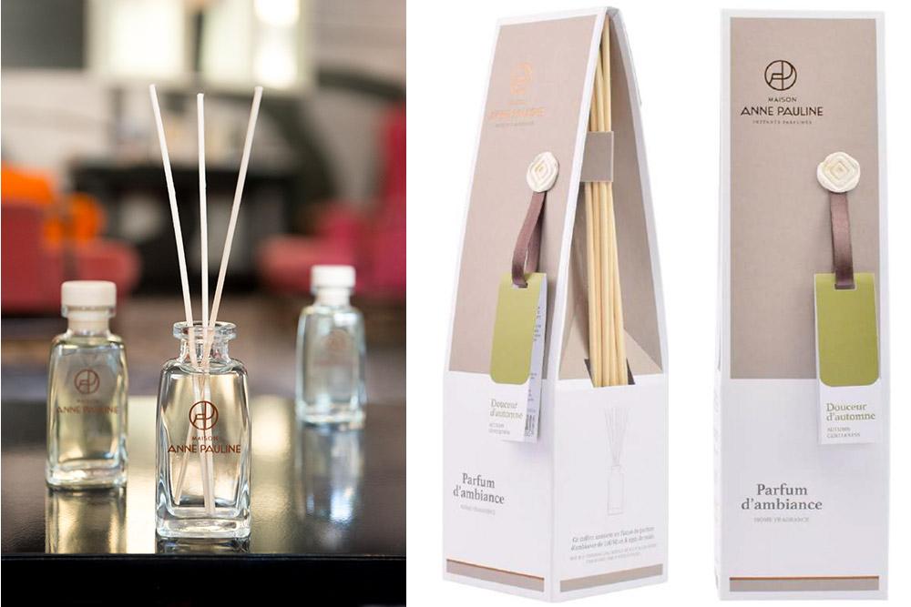 Maison Anne Pauline : Parfums dAmbiance 100 ml et 750 ml/ 8 tiges de rotin