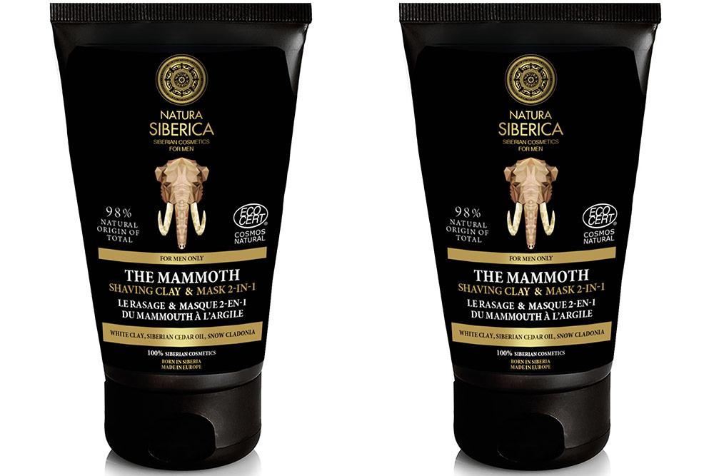 Rasage et masque deux en un : Du Mammouth à l'Argile de Natura Siberica
