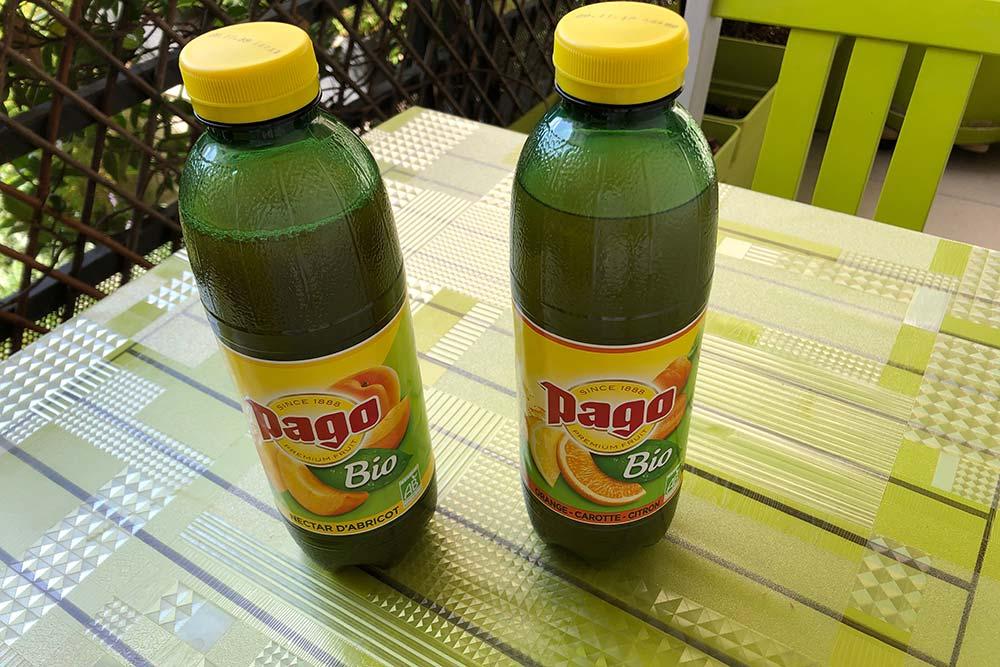 Pago des boissons bio et fruitées