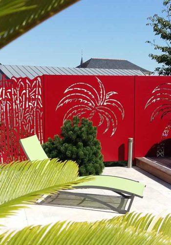 Ambellia Décor Bambou couleur rouge