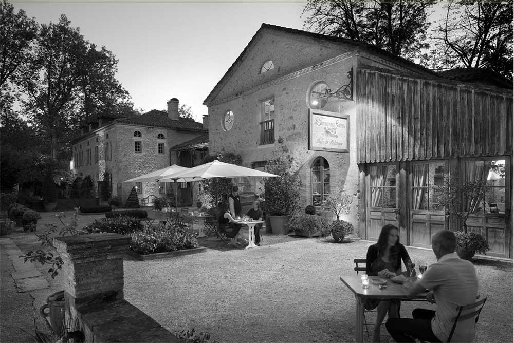 L'Auberge de la Ferme aux Grives lors de sa création en 1993
