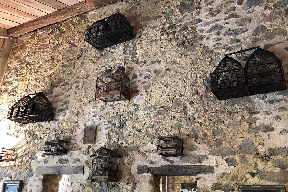 Auberge de La Ferme Aux Grives : la collection de Cages