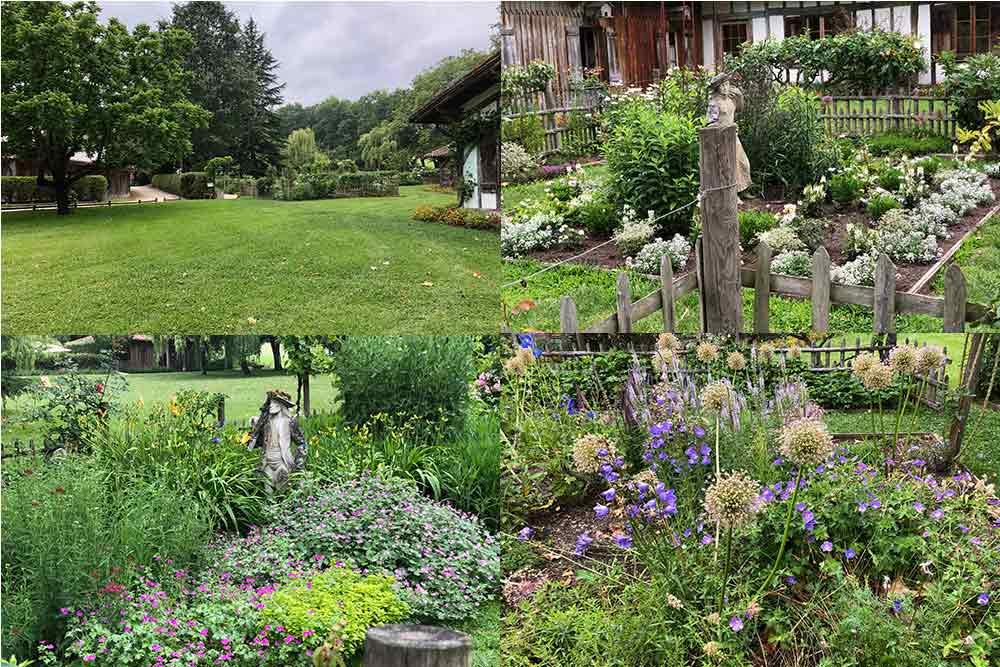 La Ferme Thermale des Prés d'Eugénie est entourés de jardins aromatiques à thèmes.