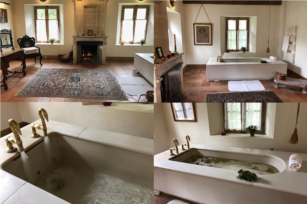 La Ferme Thermale des Prés d'Eugénie. Le salon royale pour un bain relaxant