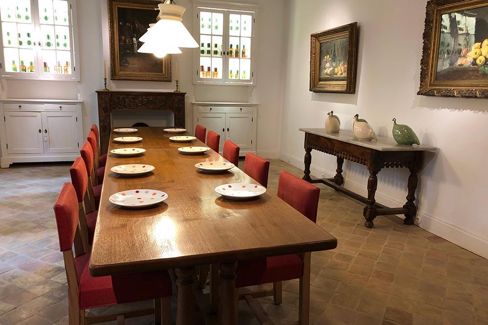 La table de la salle à manger