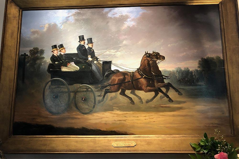 Napoléon III conduisant un attelage