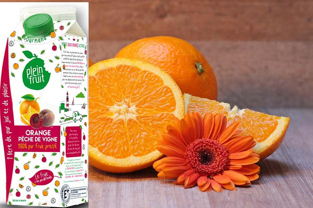 Plein Fruit : Orange Pêche de Vigne