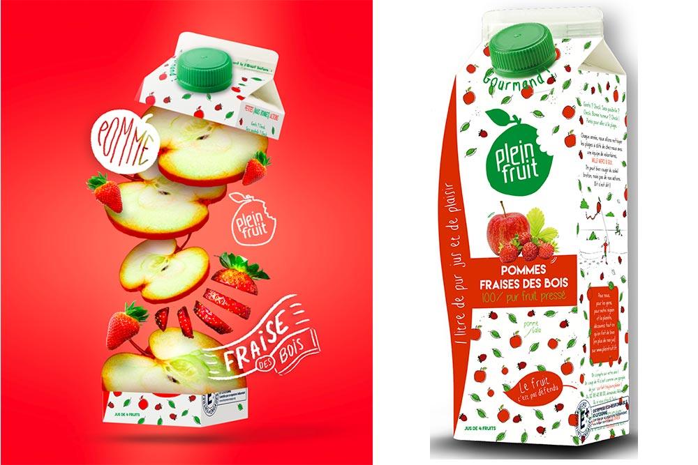 Plein Fruit : Pomme Fraise des Bois