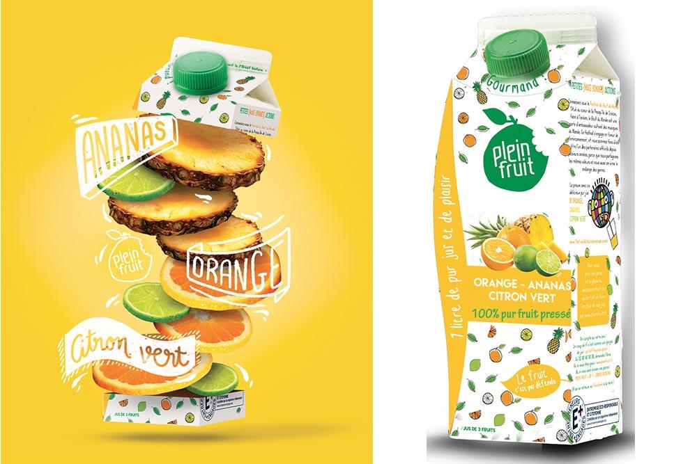 Plein Fruit : Orange Ananas et Citron Vert