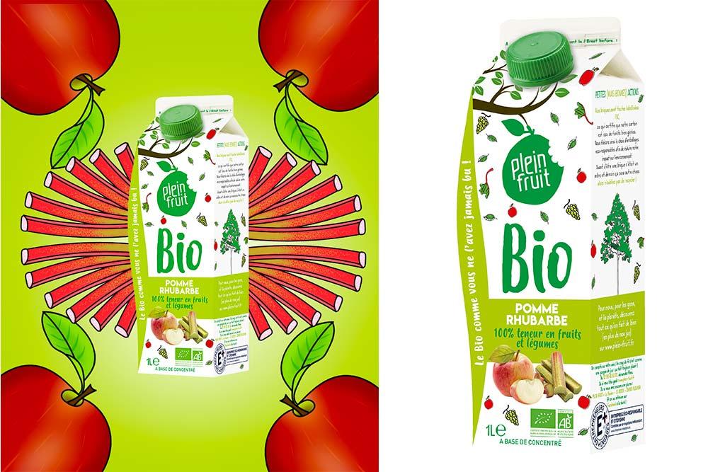 Plein Fruit : Pomme Rhubarbe Bio