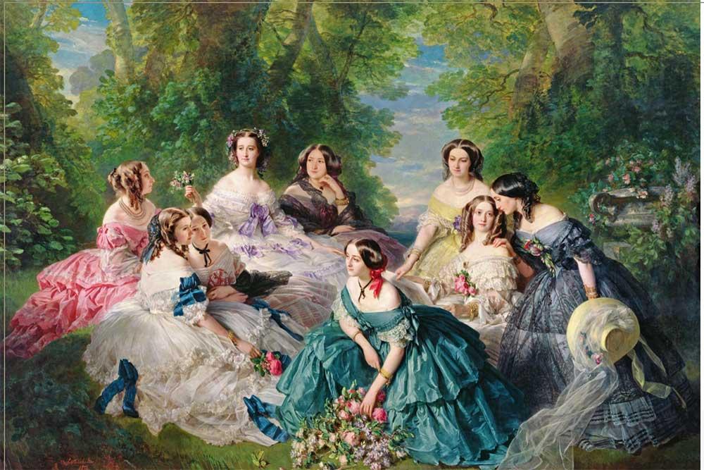 La Princesse Eugénie et ses dames de compagnie