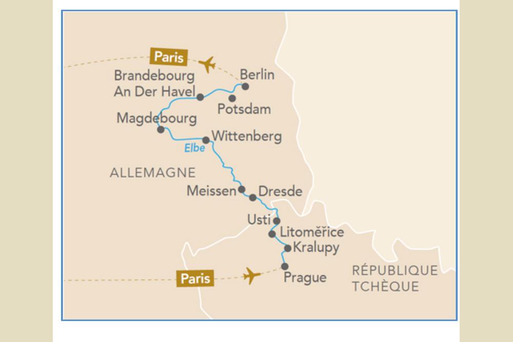 L'Elbe et la Moldau, de Prague à Berlin