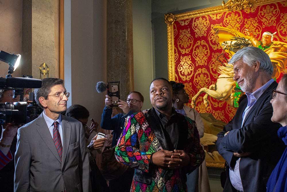 Inauguration de l'exposition David conte Wiley au Château de Malmaison