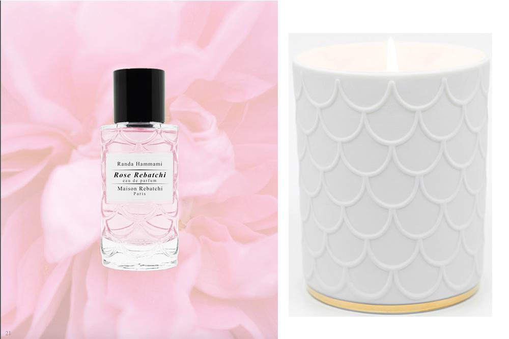 Eau de parfum Rose Rebatchi et Bougie Rose rouge
