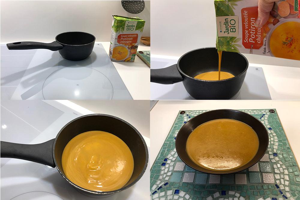 La soupe au Potiron et aux Châtaigne