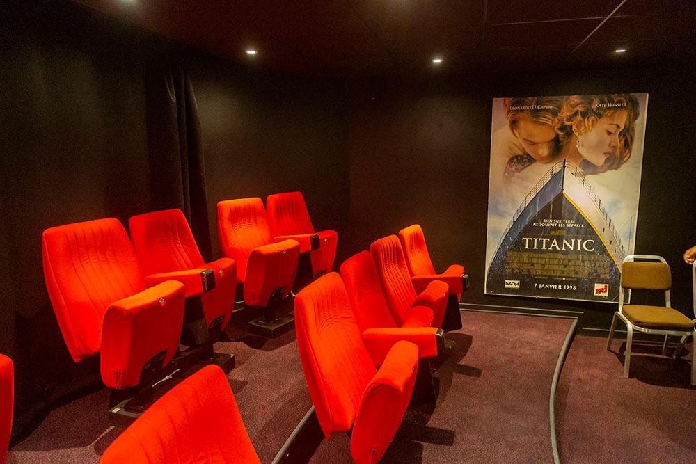 La salle de cinémé privée.